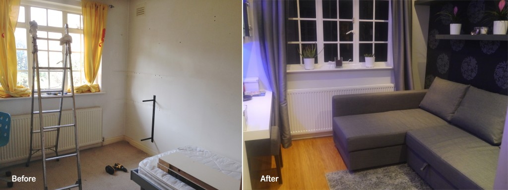 Teenage bed b4 and after